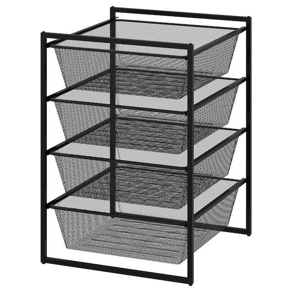 """JONAXEL Frame with mesh baskets, anthracite, 19 5/8x20 1/8x27 1/2 """""""