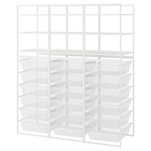 "JONAXEL Open storage combination, white, 58 1/4x20 1/8x68 1/8 """