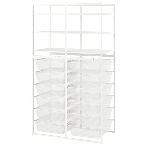 "JONAXEL Open storage combination, white, 39x20 1/8x68 1/8 """