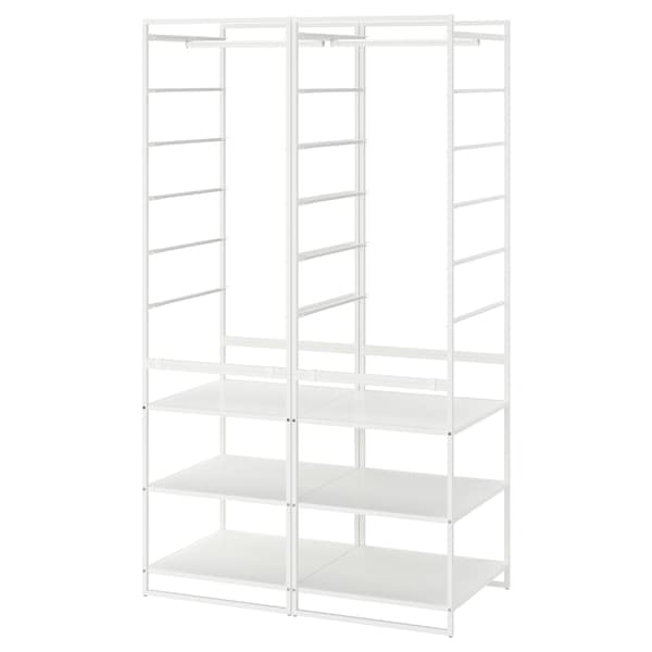 JONAXEL Shelving unit with clothes rail, white, 39x20 1/8x68 1/8 ""