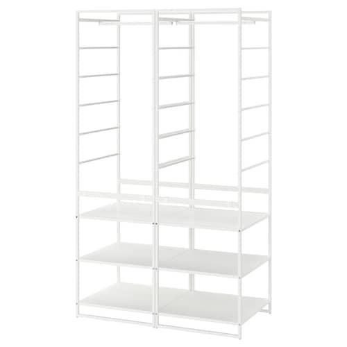 IKEA JONAXEL Shelving unit with clothes rail