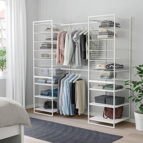 "JONAXEL Wardrobe combination, white, 55 7/8-70 1/8x20 1/8x68 1/8 """