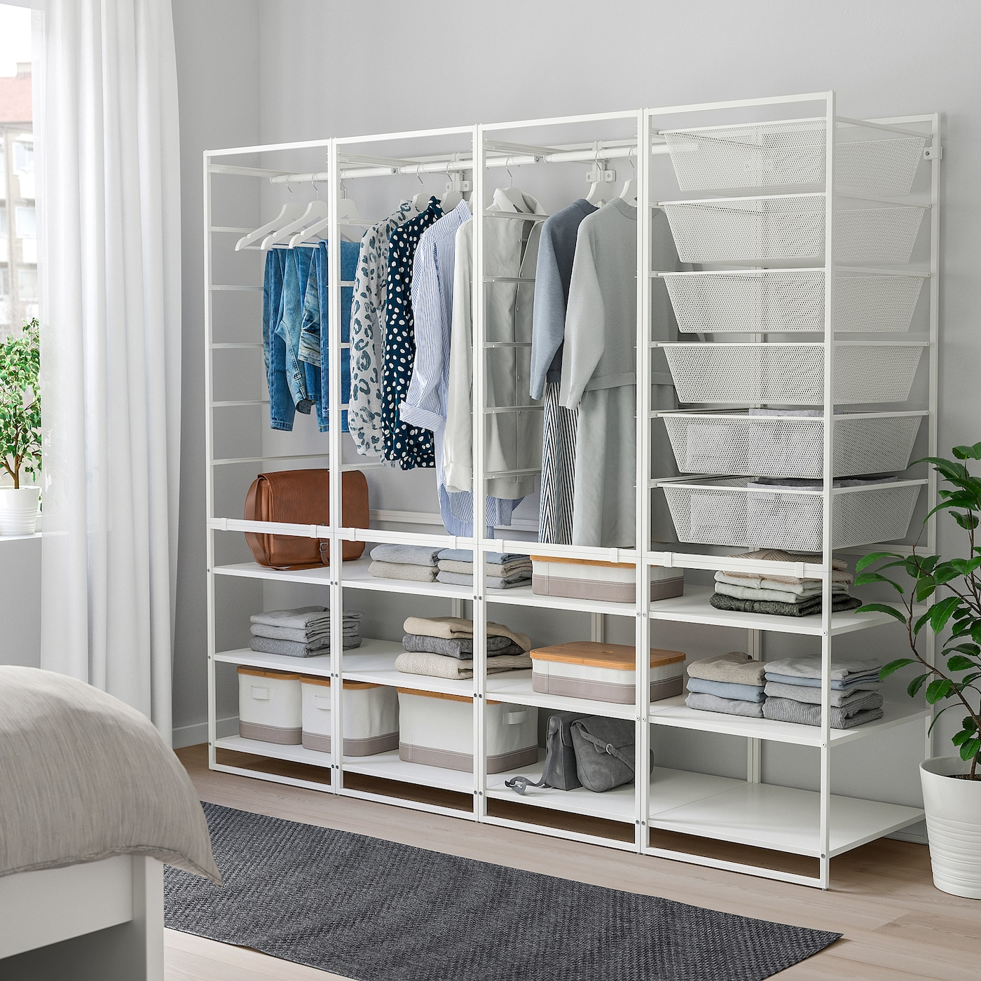 "JONAXEL Wardrobe combination, white, 78x20 1/8x68 1/8 """