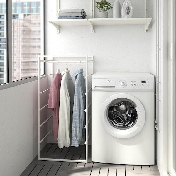 "JONAXEL Wardrobe combination, white, 19 5/8x20 1/8x41 """