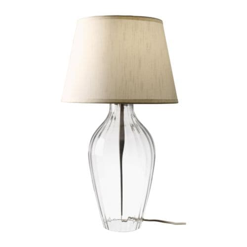 "JONSBO BÄRBY Table lamp  Total height: 24 "" Shade diameter: 14 "" Cord length: 77 ""  Total height: 62 cm Shade diameter: 35 cm Cord length: 195 cm"