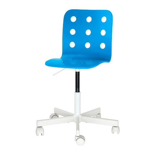 JULES Child's desk chair, blue, white blue/white -
