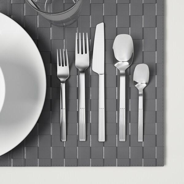 JUSTERA 20-piece flatware set stainless steel
