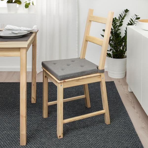 "JUSTINA Chair pad, gray, 17/14x16x2 """