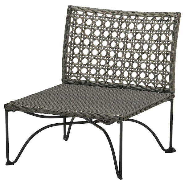 "JUTHOLMEN one-seat section, outdoor dark gray-brown 25 1/4 "" 29 1/8 "" 28 "" 25 1/4 "" 25 1/4 "" 12 1/4 """