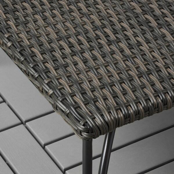 """JUTHOLMEN stool, outdoor dark gray-brown 25 5/8 """" 25 5/8 """" 12 1/4 """" 25 5/8 """" 25 5/8 """" 12 1/4 """" 243 lb"""
