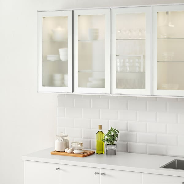 JUTIS Glass door - frosted glass, aluminum - IKEA