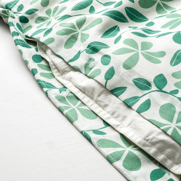 "JUVELBLOMMA duvet cover and pillowcase(s) white/green 104 /inch² 2 pack 86 "" 86 "" 20 "" 30 """