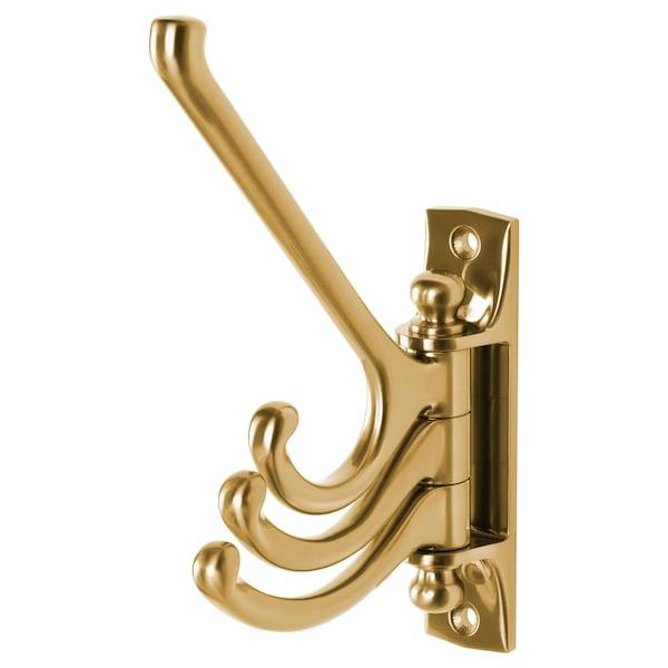 KÄMPIG 3-arm swivel hook, brass color