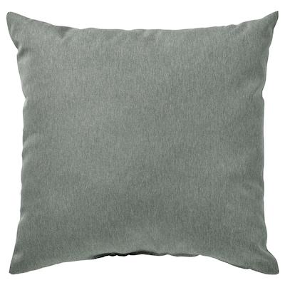 "KÄRLEKSGRÄS Cushion, green, 16x16 """