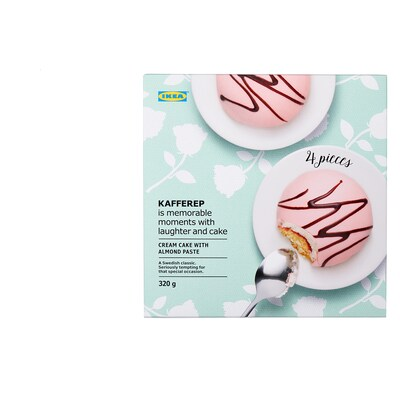 KAFFEREP Cream cake with almond paste, almond, 11 oz