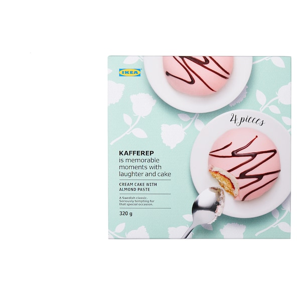 KAFFEREP Cream cake with almond paste, almond, 11 oz