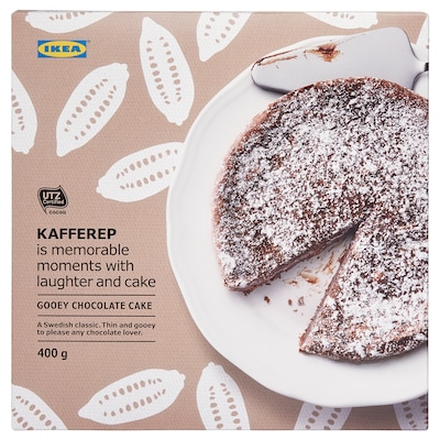 KAFFEREP Gooey chocolate cake, frozen/UTZ certified, 14 oz