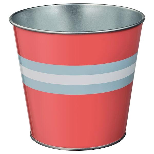 """KAKIPLOMMON plant pot indoor/outdoor red-pink 4 ¾ """" 5 ½ """" 4 ¾ """" 5 """""""