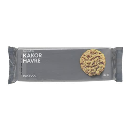 KAKOR HAVRE Oat biscuits IKEA A sugar-free oat flake biscuit.   Serve with an optional drink, preferably coffee or tea.