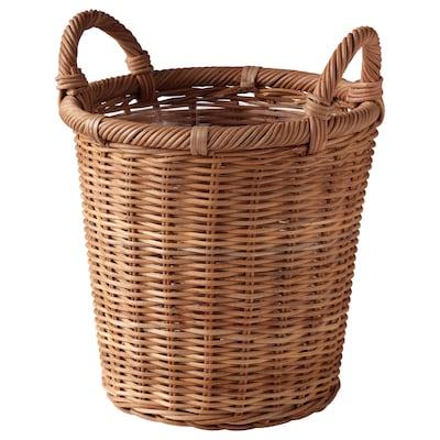 """KAKTUSFIKON Plant pot, rattan, 7 ½ """""""