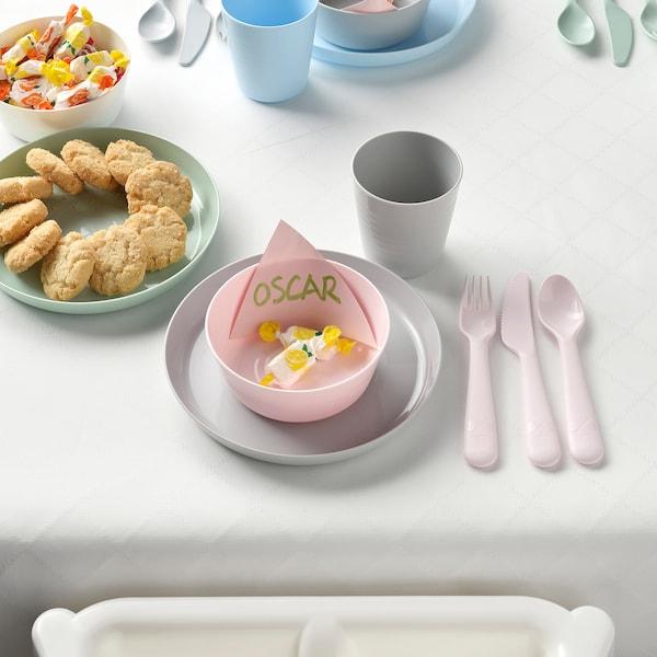 KALAS 18-piece flatware set, mixed colors