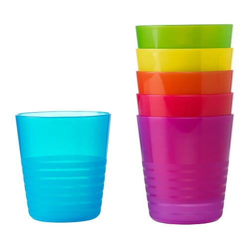 KALAS Tumbler IKEA Great for parties and everyday meals.   Made of durable plastic and safe to use in the dishwasher and microwave.