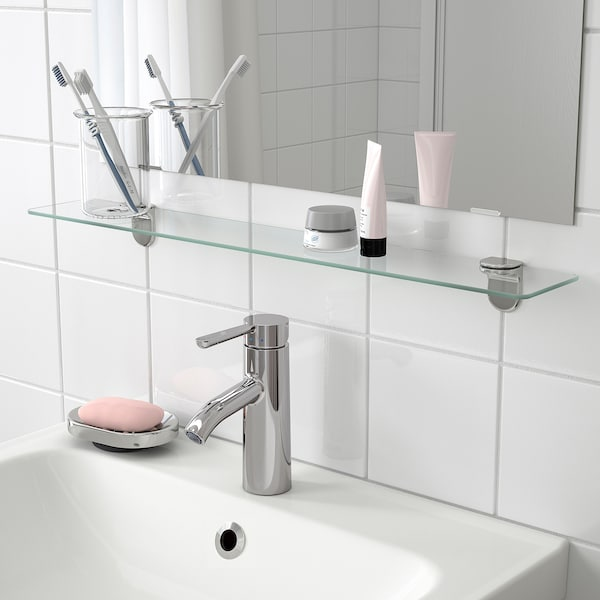 """KALKGRUND Glass shelf, 24 5/8x4 3/8 """""""