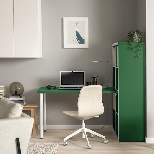 "KALLAX workstation white/green 30 3/8 "" 62 5/8 "" 57 7/8 """
