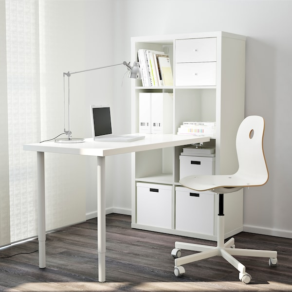 "KALLAX workstation white 30 3/8 "" 62 5/8 "" 57 7/8 """