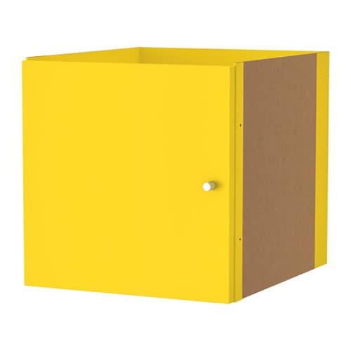 kallax insert with door yellow ikea. Black Bedroom Furniture Sets. Home Design Ideas