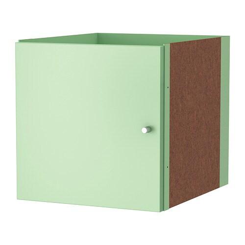 kallax insert with door light green ikea. Black Bedroom Furniture Sets. Home Design Ideas