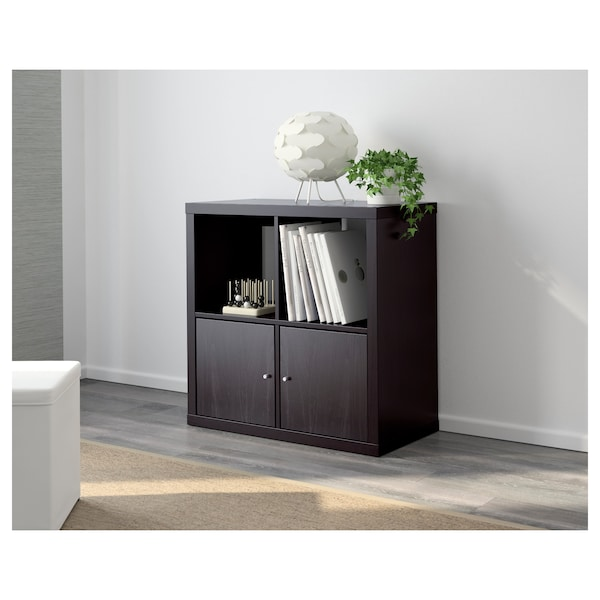 KALLAX Shelf unit, black-brown, 30 3/8x30 3/8 ""
