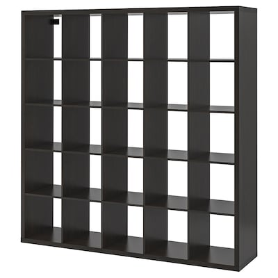KALLAX Shelf unit, black-brown, 71 5/8x71 5/8 ""