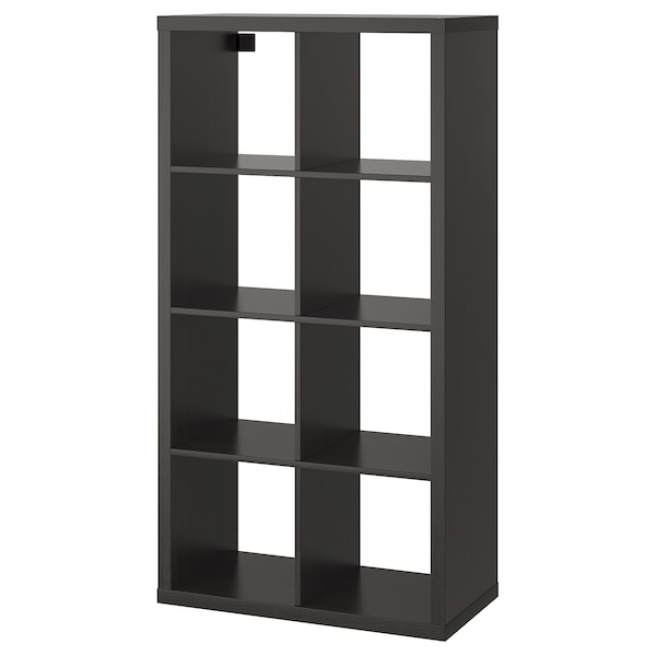 KALLAX Shelf unit, black-brown, 30 3/8x57 7/8 ""