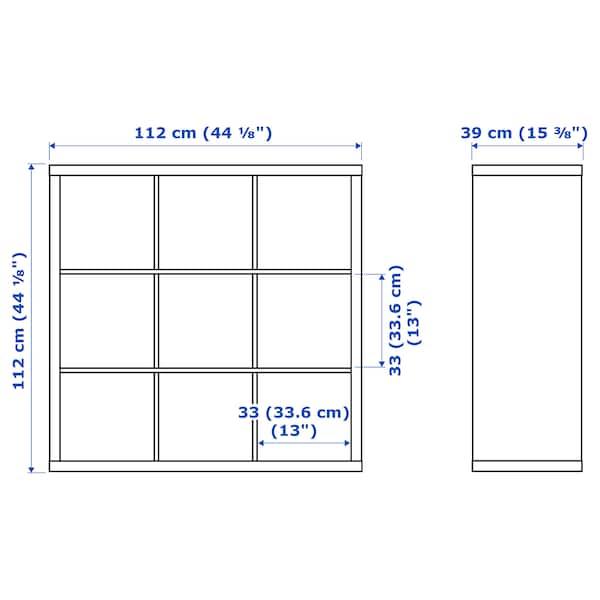 """KALLAX Shelf unit, black-brown, 44 1/8x44 1/8 """""""