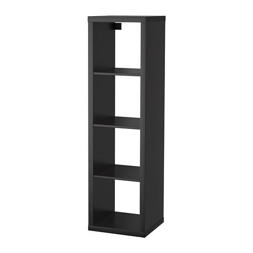 kallax shelf unit black brown ikea. Black Bedroom Furniture Sets. Home Design Ideas