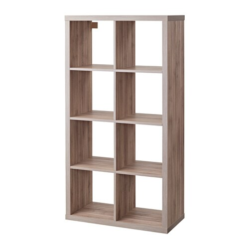 Kallax shelf unit walnut effect light gray ikea - Kallax 4 cases ...