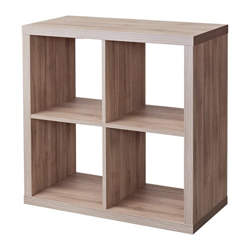 kallax shelf unit walnut effect light gray ikea. Black Bedroom Furniture Sets. Home Design Ideas