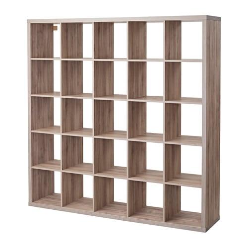 Kallax Shelf Unit Walnut Effect Light Gray Ikea