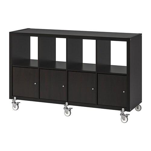 KALLAX Shelf Unit On Casters With 4 Doors