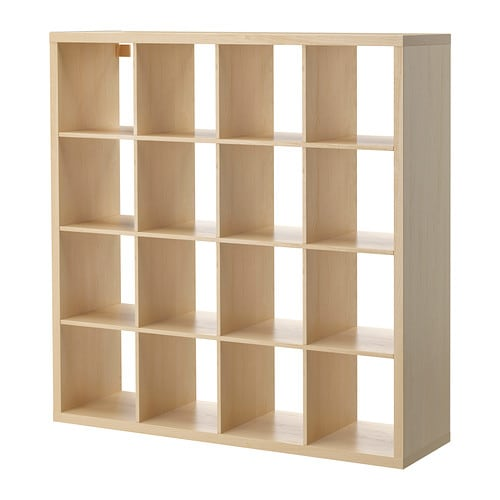 KALLAX Shelf unit IKEA You can use the furniture as a room divider because it looks good from every angle.