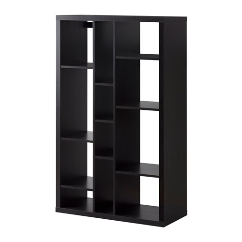 kallax shelf unit black brown ikea. Black Bedroom Furniture Sets. Home Design Ideas
