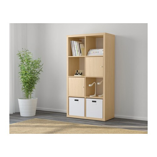 Kallax shelf unit birch effect ikea - Estanterias baratas ikea ...