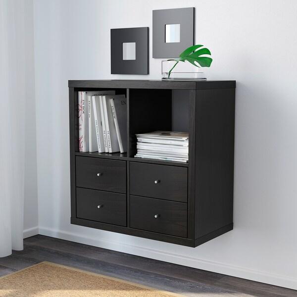 "KALLAX shelf unit black-brown 30 3/8 "" 15 3/8 "" 30 3/8 "" 29 lb 44 lb 1 oz"