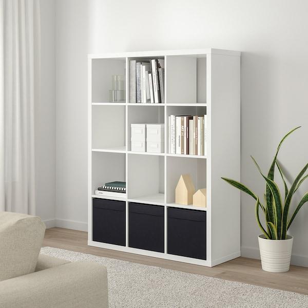 """KALLAX shelf unit white 44 1/8 """" 15 3/8 """" 57 7/8 """" 29 lb"""
