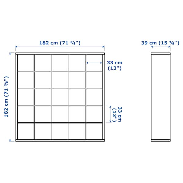 IKEA KALLAX Shelf unit with 10 inserts