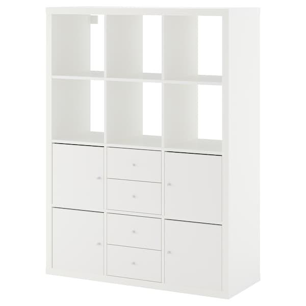 IKEA KALLAX Shelving unit with 6 inserts