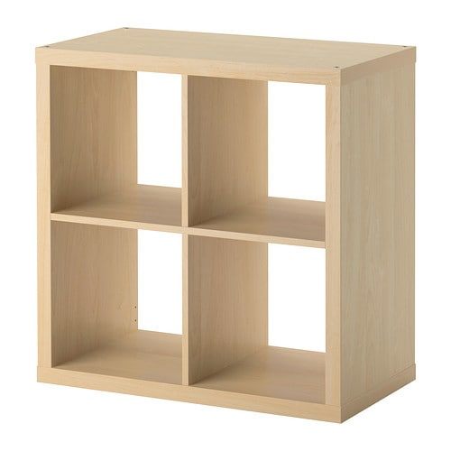 Kallax shelving unit birch effect ikea - Ikea rangement etagere ...
