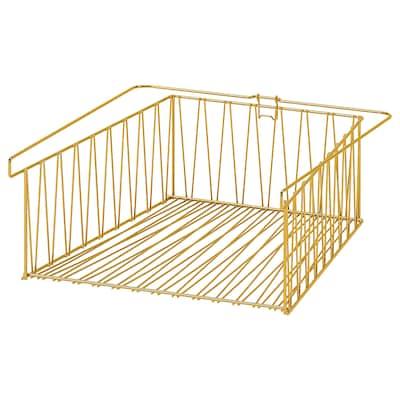 "KALLAX Wire basket, brass color, 15 3/4x13 """