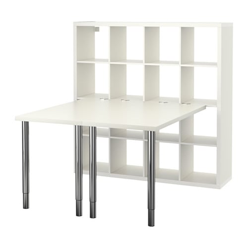 kallax workstation white ikea. Black Bedroom Furniture Sets. Home Design Ideas